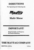 E-BOOK, MAYTAG MULTI-MOTOR