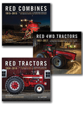 RED TRACTORS, COMBINES, AND 4WD BOOK GIFT SET